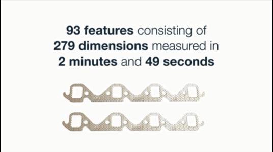 279の寸法から成る93要素を2分49秒で測定