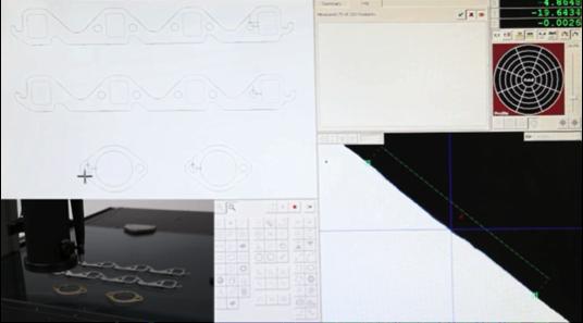 測定結果は左上画面に図形表示