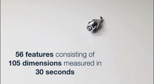 105の寸法から成る56要素を30秒で測定