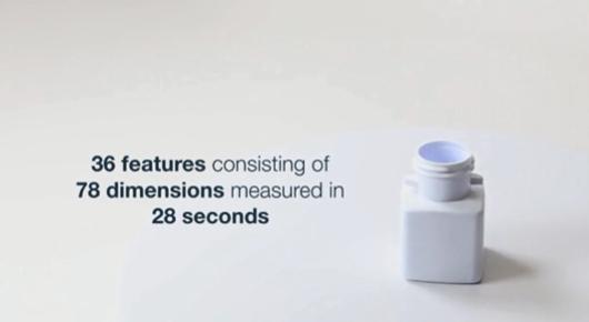 78の寸法から成る36要素を28秒で測定