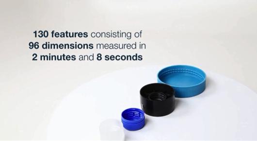 96の寸法から成る130要素を2分8秒で測定