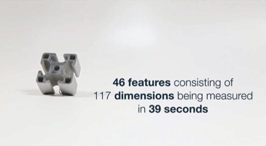 117の寸法から成る46要素を39秒で測定