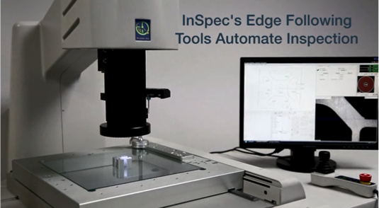 InSpecのエッジフォローツールが自動測定