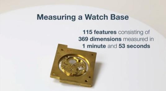 369の寸法から成る115要素を1分53秒で測定