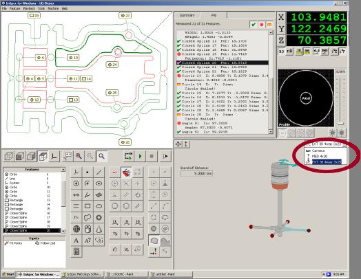 タッチプローブ測定画面